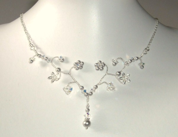 Alicia necklace silver