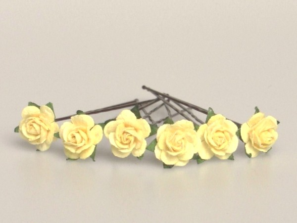 Small yellow roses