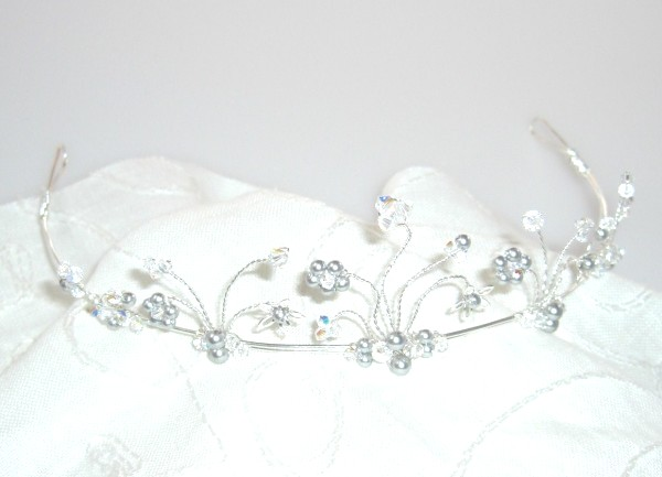 Crystal and Pearl Tiaras