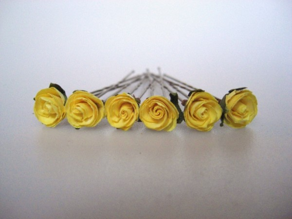 Wedding Rose hair flowers in other colours